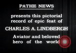Image of Charles Lindbergh New York United States USA, 1927, second 18 stock footage video 65675031329