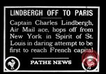 Image of Charles Lindbergh New York United States USA, 1927, second 1 stock footage video 65675031330