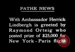 Image of Charles Lindbergh Paris France, 1927, second 1 stock footage video 65675031334