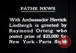 Image of Charles Lindbergh Paris France, 1927, second 3 stock footage video 65675031334