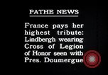 Image of Charles Lindbergh Paris France, 1927, second 3 stock footage video 65675031336