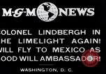 Image of Charles Lindbergh readies for Mexico trip Washington DC USA, 1927, second 4 stock footage video 65675031422