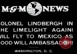 Image of Charles Lindbergh readies for Mexico trip Washington DC USA, 1927, second 5 stock footage video 65675031422
