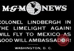 Image of Charles Lindbergh readies for Mexico trip Washington DC USA, 1927, second 10 stock footage video 65675031422