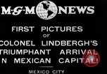 Image of Charles Lindbergh Mexico City Mexico, 1927, second 1 stock footage video 65675031423