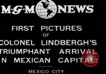 Image of Charles Lindbergh Mexico City Mexico, 1927, second 2 stock footage video 65675031423