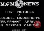 Image of Charles Lindbergh Mexico City Mexico, 1927, second 5 stock footage video 65675031423