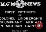 Image of Charles Lindbergh Mexico City Mexico, 1927, second 6 stock footage video 65675031423