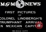 Image of Charles Lindbergh Mexico City Mexico, 1927, second 7 stock footage video 65675031423