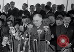 Image of Franklin Roosevelt addresses city of Chicago Chicago Illinois USA, 1937, second 45 stock footage video 65675031439