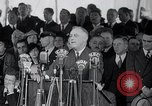 Image of Franklin Roosevelt addresses city of Chicago Chicago Illinois USA, 1937, second 55 stock footage video 65675031439