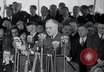 Image of Franklin Roosevelt addresses city of Chicago Chicago Illinois USA, 1937, second 56 stock footage video 65675031439