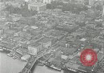 Image of aerial view Willamette River Westside Waterfront 1920s Portland Oregon USA, 1925, second 26 stock footage video 65675031461