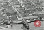 Image of aerial view Willamette River Westside Waterfront 1920s Portland Oregon USA, 1925, second 37 stock footage video 65675031461