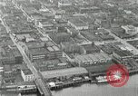 Image of aerial view Willamette River Westside Waterfront 1920s Portland Oregon USA, 1925, second 38 stock footage video 65675031461