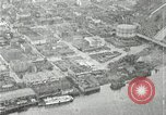Image of aerial view Willamette River Westside Waterfront 1920s Portland Oregon USA, 1925, second 40 stock footage video 65675031461