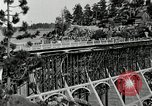 Image of developed forest road Big Bear Lake California USA, 1929, second 18 stock footage video 65675031472