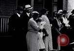 Image of Well dressed African-Americans waiting at a school near a Tennessee Emergency relief camp Tennessee USA, 1936, second 3 stock footage video 65675031562