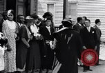 Image of Well dressed African-Americans waiting at a school near a Tennessee Emergency relief camp Tennessee USA, 1936, second 6 stock footage video 65675031562