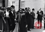 Image of Well dressed African-Americans waiting at a school near a Tennessee Emergency relief camp Tennessee USA, 1936, second 7 stock footage video 65675031562