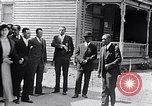 Image of Well dressed African-Americans waiting at a school near a Tennessee Emergency relief camp Tennessee USA, 1936, second 10 stock footage video 65675031562