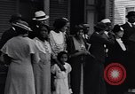 Image of Well dressed African-Americans waiting at a school near a Tennessee Emergency relief camp Tennessee USA, 1936, second 20 stock footage video 65675031562