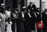 Image of Well dressed African-Americans waiting at a school near a Tennessee Emergency relief camp Tennessee USA, 1936, second 21 stock footage video 65675031562