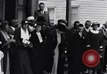 Image of Well dressed African-Americans waiting at a school near a Tennessee Emergency relief camp Tennessee USA, 1936, second 22 stock footage video 65675031562