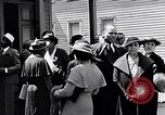 Image of Well dressed African-Americans waiting at a school near a Tennessee Emergency relief camp Tennessee USA, 1936, second 34 stock footage video 65675031562