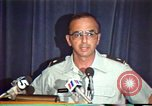 Image of American Air Force officer speaks about human rights in Nicaragua Nicaragua, 1983, second 32 stock footage video 65675031643