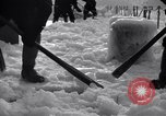 Image of Sailors chop ice from Japanese light cruiser Aleutians, 1942, second 5 stock footage video 65675031675