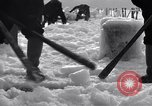 Image of Sailors chop ice from Japanese light cruiser Aleutians, 1942, second 7 stock footage video 65675031675