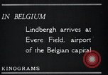 Image of Colonel Charles A Lindbergh Antwerp Belgium, 1928, second 21 stock footage video 65675031735