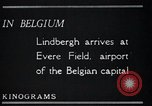 Image of Colonel Charles A Lindbergh Antwerp Belgium, 1928, second 23 stock footage video 65675031735