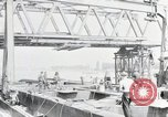 Image of construction of bridge Wiesbaden Germany, 1954, second 1 stock footage video 65675031784