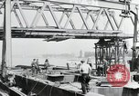 Image of construction of bridge Wiesbaden Germany, 1954, second 2 stock footage video 65675031784
