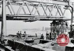 Image of construction of bridge Wiesbaden Germany, 1954, second 12 stock footage video 65675031784