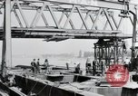 Image of construction of bridge Wiesbaden Germany, 1954, second 13 stock footage video 65675031784