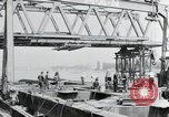 Image of construction of bridge Wiesbaden Germany, 1954, second 14 stock footage video 65675031784