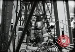 Image of construction of bridge Wiesbaden Germany, 1954, second 31 stock footage video 65675031784