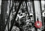 Image of construction of bridge Wiesbaden Germany, 1954, second 32 stock footage video 65675031784