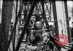 Image of construction of bridge Wiesbaden Germany, 1954, second 33 stock footage video 65675031784