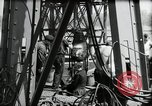 Image of construction of bridge Wiesbaden Germany, 1954, second 34 stock footage video 65675031784