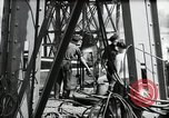 Image of construction of bridge Wiesbaden Germany, 1954, second 40 stock footage video 65675031784