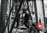 Image of construction of bridge Wiesbaden Germany, 1954, second 41 stock footage video 65675031784