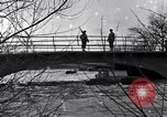 Image of Soldiers standing guard atop a bridge United States USA, 1943, second 26 stock footage video 65675031862