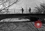 Image of Soldiers standing guard atop a bridge United States USA, 1943, second 28 stock footage video 65675031862