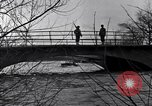 Image of Soldiers standing guard atop a bridge United States USA, 1943, second 30 stock footage video 65675031862