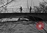 Image of Soldiers standing guard atop a bridge United States USA, 1943, second 35 stock footage video 65675031862