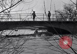 Image of Soldiers standing guard atop a bridge United States USA, 1943, second 36 stock footage video 65675031862